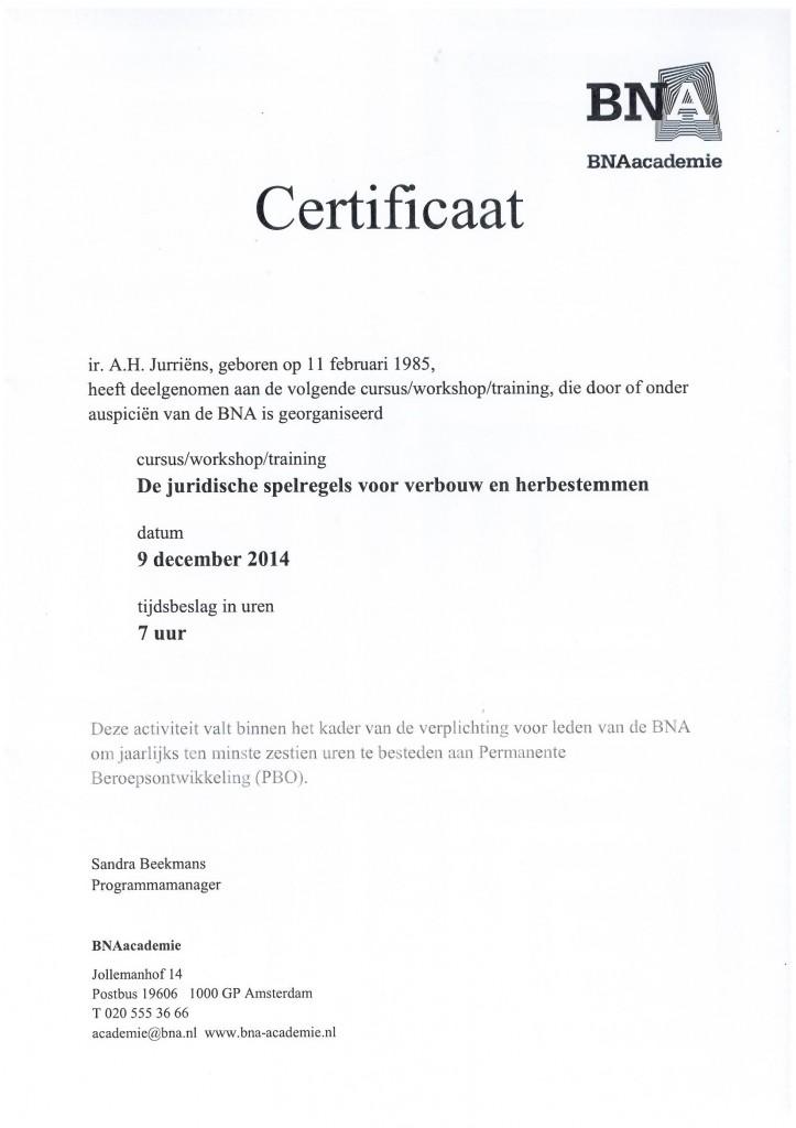 Certificaat: Juridische spelregels voor verbouw- en herbestemmen