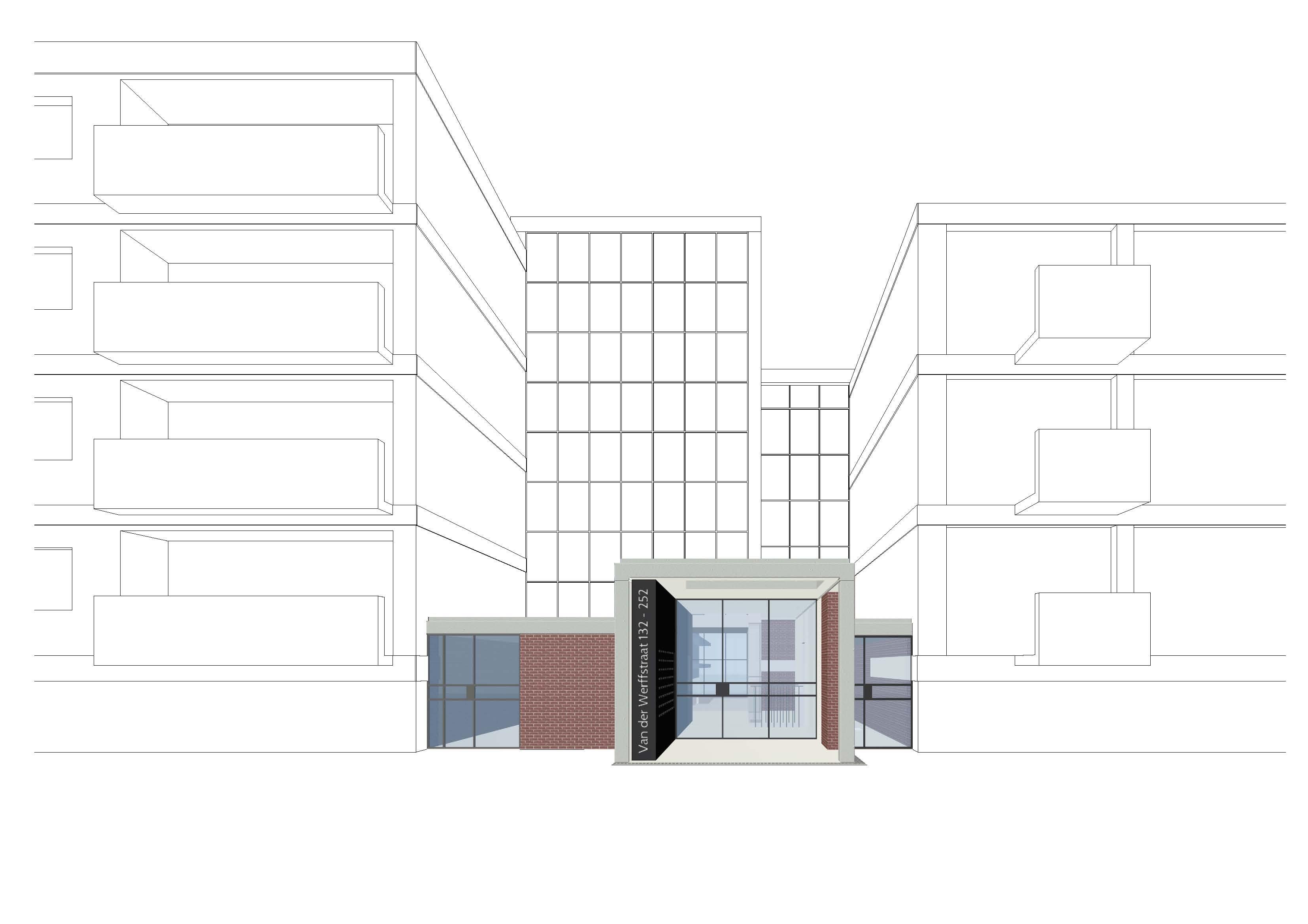 Adriaan jurri ns architecten den haag definitief ontwerp renovatie entreehal en trappenhuis - Hal entreehal ...