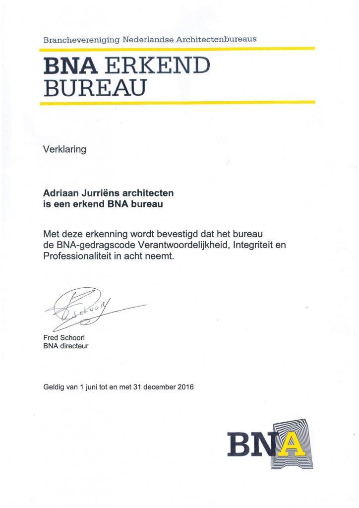 BNA Verklaring Erkend Bureau
