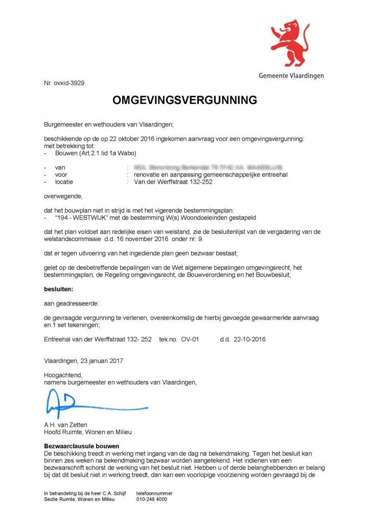 Omgevingsvergunning VVE